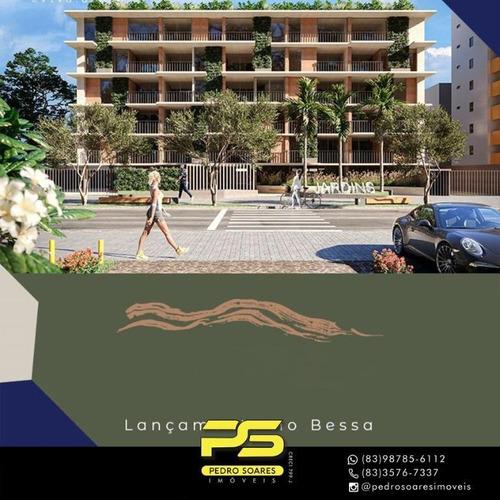 Lançamento Apartamento Com 2 A 3 Dormitórios À Venda, 62 M² Partir De R$ 408.000 - Bessa - João Pessoa/pb - Ap4353