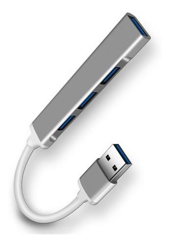 Imagen 1 de 2 de Adaptador Hub Usb 3.0 4 Puertos Para Macbook Notebook