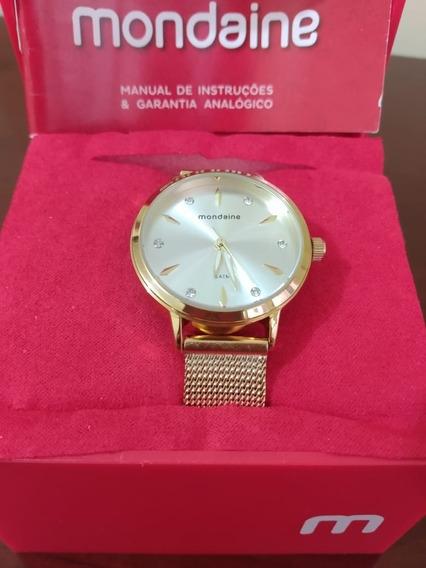 Relógio Mondaine Feminino Dourado 76733lpmvde3