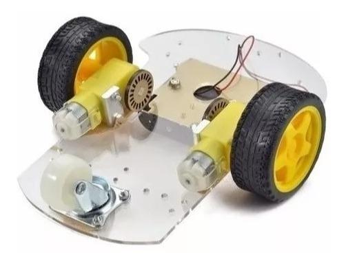 Kit Chassi Duas Rodas Smart Carro Robô Arduino