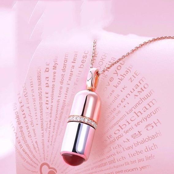 Colar Cápsula Projeta Te Amo 100 Idiomas Presente Namorados
