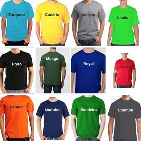 10 Camisetas Pv Malha Fria Coloridas Atacado Xgg