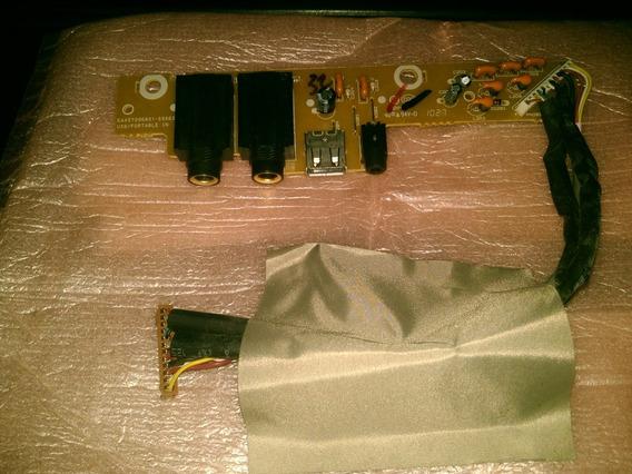 Placa Microfone Usb Home Theater Lg Ht305sv Eax57396801usada