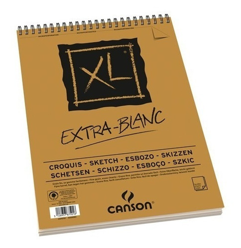 Imagem 1 de 6 de 2x Bloco Papel Canson Xl Extra Blanc Branco White 90g A5 60f