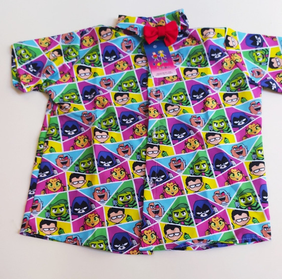Camisa Temática Jovem Titãs Tamanho Gg Fantasia Social