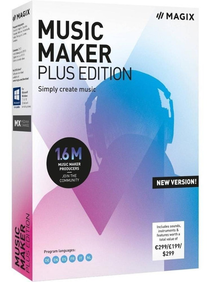 Magix Music Maker Plus Edition Software Licencia Original