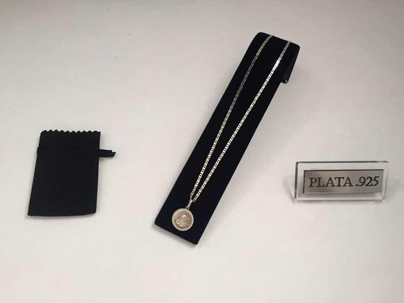 Cadena Gucci Con Medalla Virgen Guadalupe Plata .925 Envío I