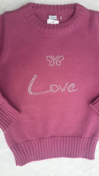 Sweater Poulover Nena Con Brillo