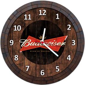 Relógio De Parede Quadro Tampa De Barril Cerveja Bebida W061