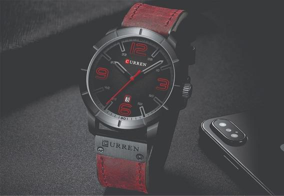 Relógio Curren Masculino Vermelho