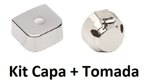 Kit Capa Inox Para Engate + Tomada Fêmea + Parafusos Reboque