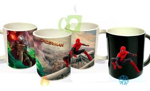 Spiderman, Tazón Mágico, Cambia Con Agua Caliente, Avengers