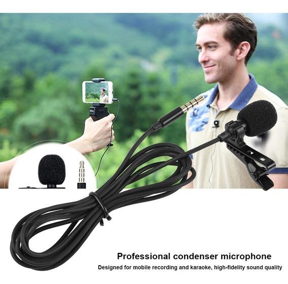 Mini Clipe Em Lapela Microfone Mãos - Com Fio Condensador L