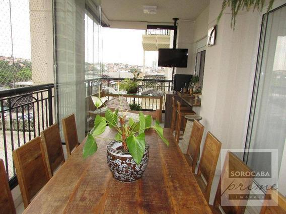 Apartamento Com 3 Dormitórios À Venda, 196 M² Por R$ 1.350.000 - Condomínio Único Campolim - Sorocaba/sp, Próximo Ao Shopping Iguatemi. - Ap0034
