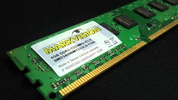 Kit 8gb Memoria Markvision Ddr3 4gb 1333 Mhz Cl 9 Pc3 12800