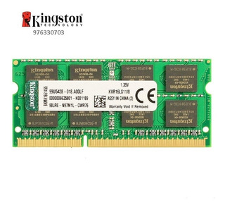 Memoria Kingston 8gb, Ddr3, Sodimm, 1600mhz Laptop/nuevo