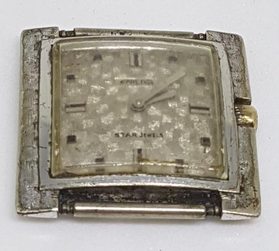 Relógio Pulso Vintage Enicar Swiss No Estado P/peça 28x28 Mm
