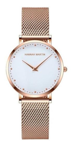 Relógio Hannah Martin Feminino Casual Luxo
