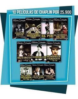 Colección 10 Películas De Charles Chaplin (10 Discos Dvd)