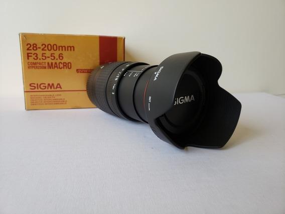 Lente Sigma Hyperzoom Macro 28-200mm 1:3.5-5.6 P/ Canon
