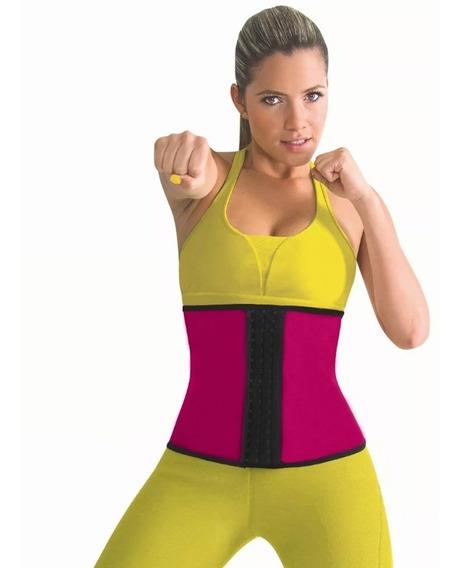 Faja Cinturillera Rosa Reductora Corset Gym Fitness