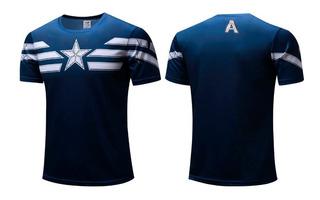 Camisa Capitão America Rogers - Poliéster