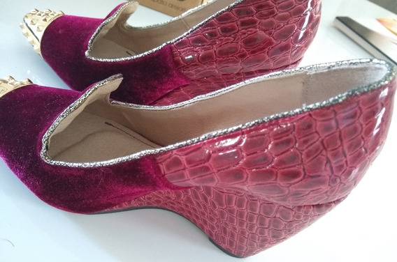 Sapato Feminino Miucha Elegante Veludo Tamanho 34
