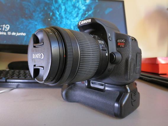 Câmera Canon T5i Usada Impecável + Baterias + Case Bateria