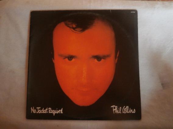 Lp Phil Collins - No Jacket Required, C/ Encarte, Seminovo