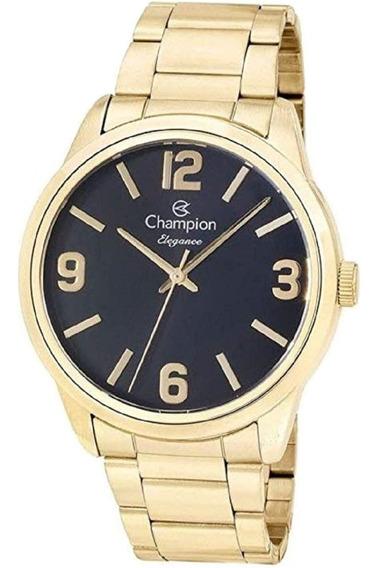 Relógio Champion Feminino Banhado Ouro 18k Visor 4,2 Cm