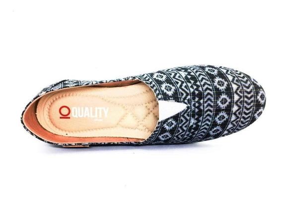Alpargata Quality Shoes Feminina 001 Étnico Brilho
