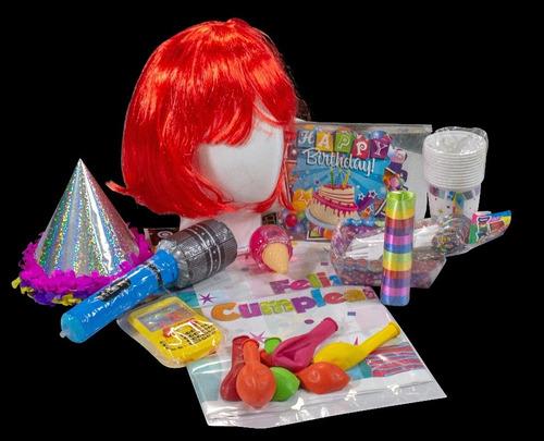Kit Cumpleaños Mujer Con Peluca