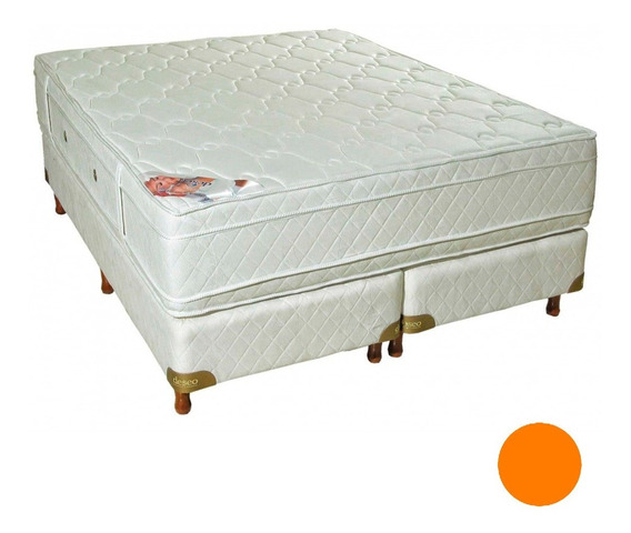 Sommier Colchon Deseo Diamante King 200 180 Doble Pillow 18
