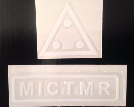 Kit E Adesivo Branco Triangulo E Mictmr Maçonaria T3sm