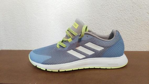 Tenis adidas Sooraj, Color Azul Acero, Talla 27, Unisex !