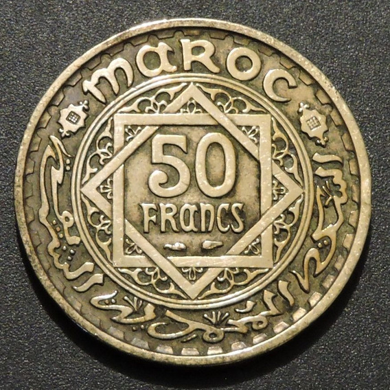 Marruecos Set De 2 Monedas Año 1952