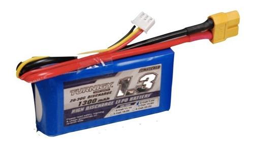 Bateria Lipo 1300mah 7.4v 2s 20c Turnigy Dron Robotica Rc F