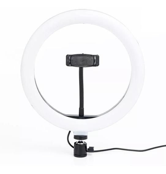 Iluminador Ring Light Maquiagem Make Fotos Selfie 26cm C/ Nf