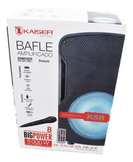 Bafle Bocina Amplificada 8 Bluetooth Mic Led Usb 5000w Nueva