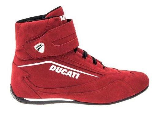 Tenis Casual Tipo Bota Ducati C600 Rojo