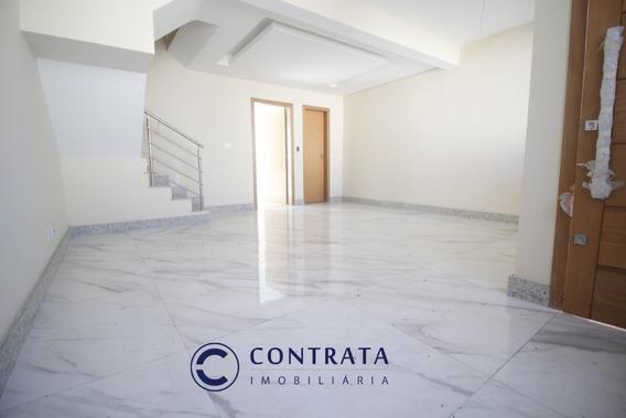 Casa Geminada Nova, Duplex - Bh - B.santa Mônica - 3 Qts