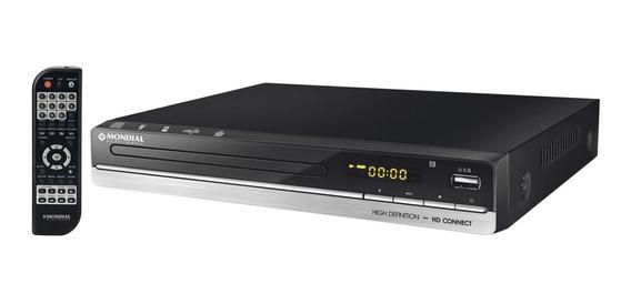 Dvd Player Mondial Hd Connect Usb Karaokê D-18 Preto Bivolt