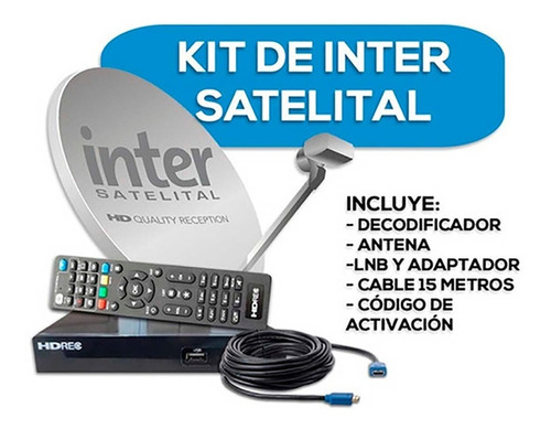 Kit Inter Satelital Nuevo Delivery Gratis Bqto