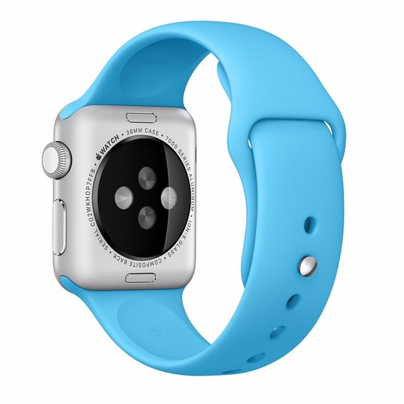 Pulseira De Silicone Sport Azul P/ Apple Watch 38mm