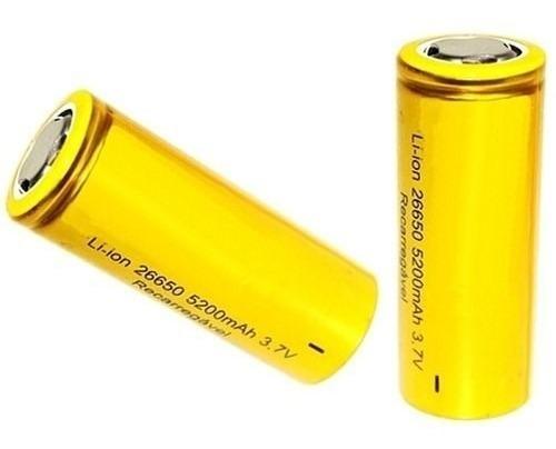 Kit Carregador Duplo + 4 Bateria Recarregável 26650 3.7v8800