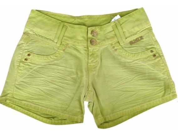 Shorts Jeans Verde Republica Em Promoção 50% Off