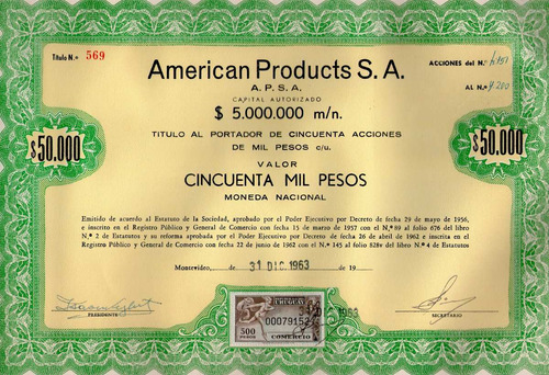 Accion American Products S.a. (905)