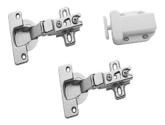 Bisagra Push-open Con Touch Cobertura Completa 6 Jgos.
