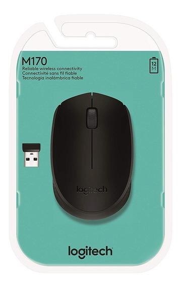 Mouse Logitech M170 Wireless Nano Preto 910-004940