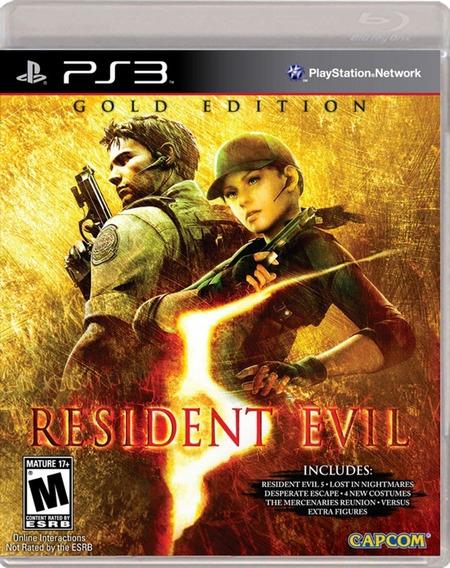 Jogo Resident Evil 5 Ps3 M. Fisica